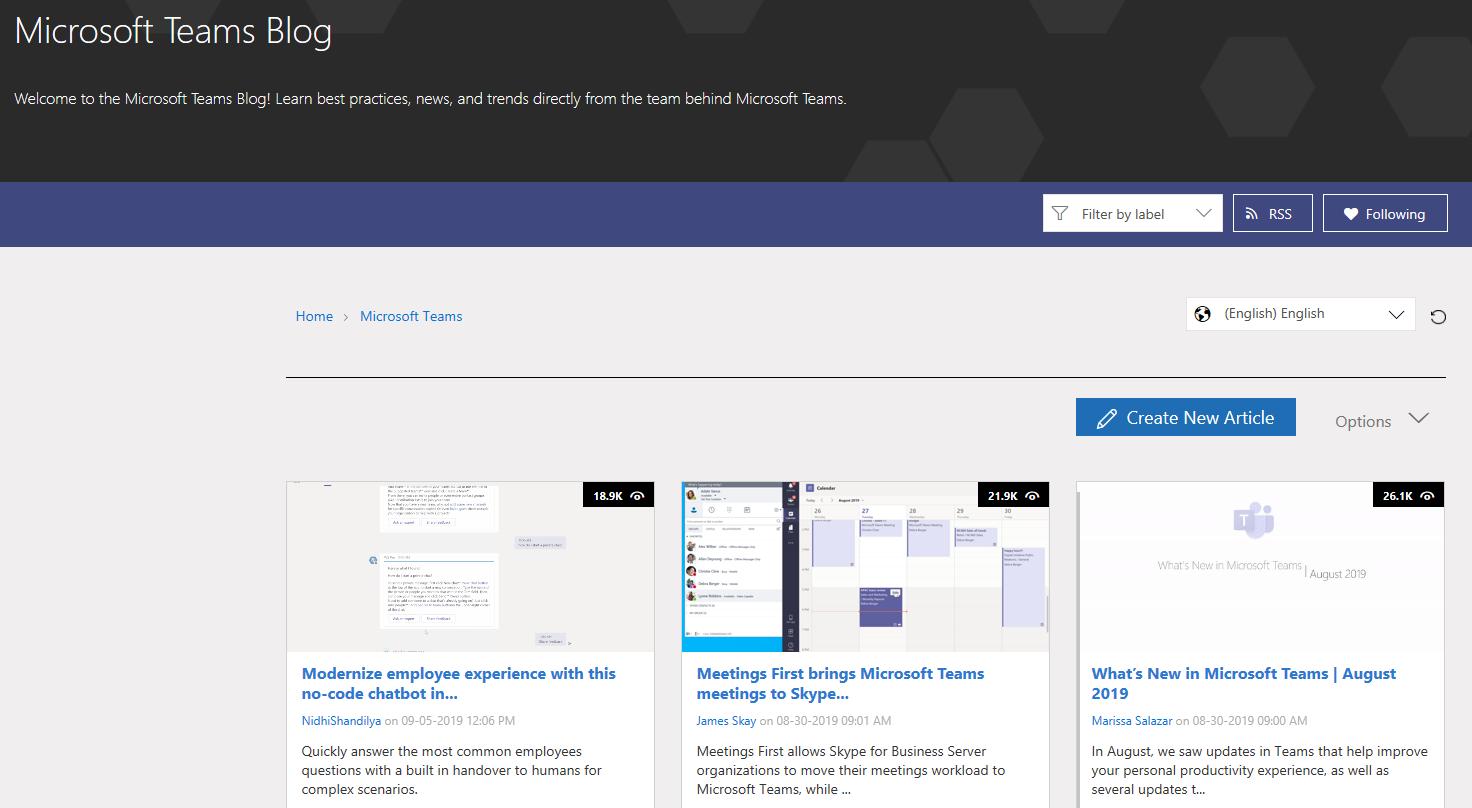 Microsoft Teams Blog: aka.ms/teamsblog