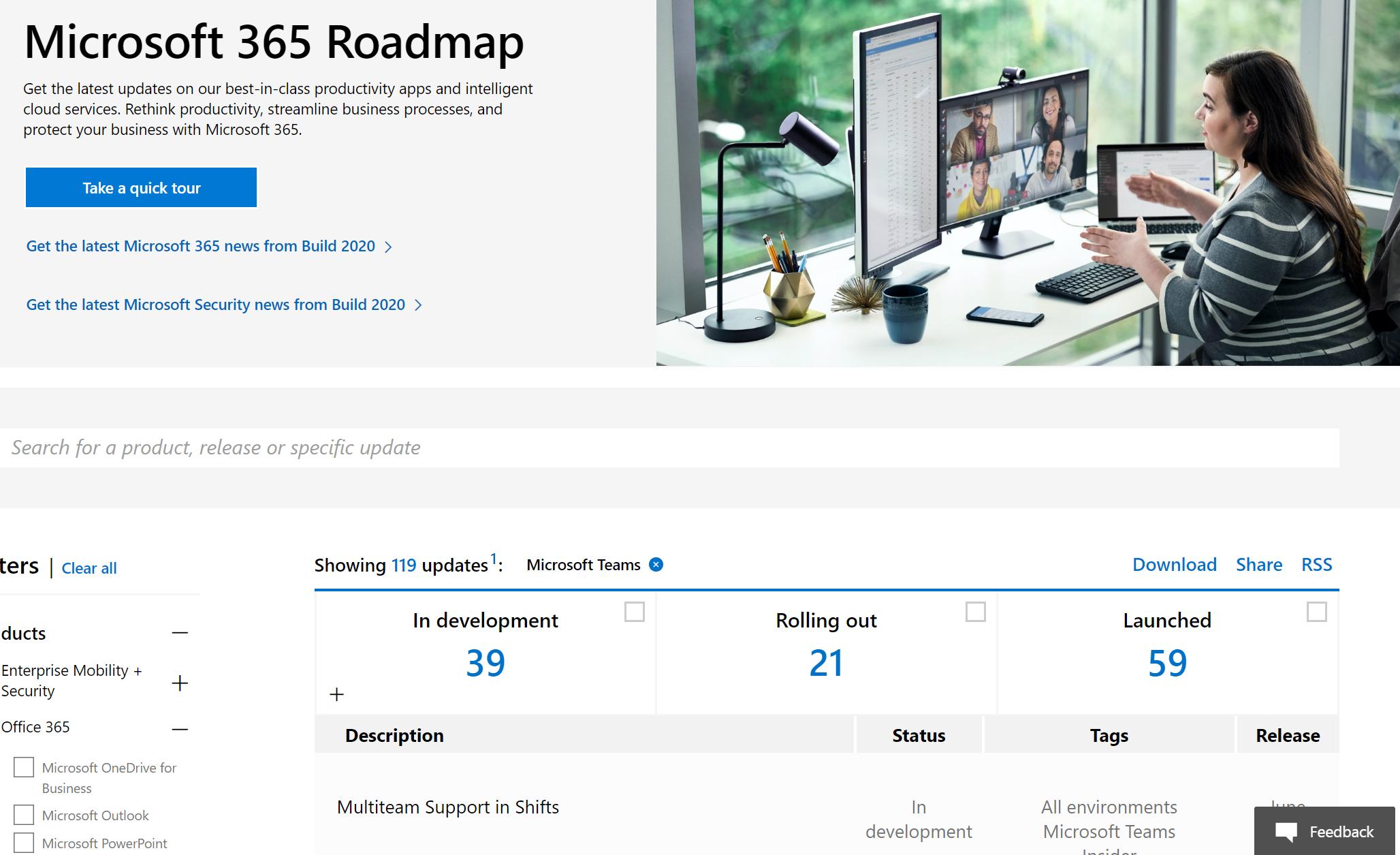Public Roadmap: aka.ms/teamsroadmap